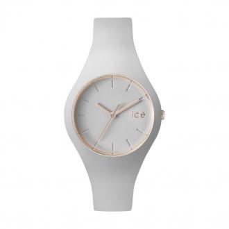 Montre Ice Watch Ice glam blanche et dorée rose medium 000978