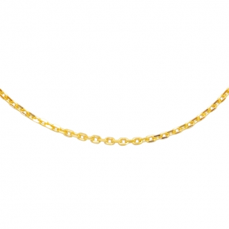 Collier Carador forçat diamanté Or jaune 375/000, longueur 40 mm