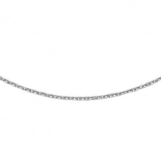 Chaine Carador or blanc 375/000 maille forçat limée, 42 cm
