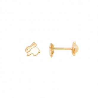 Boucles d'oreilles Carador Lapin or jaune 375/000