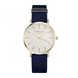 Montre Rosefield The West Village bleue et or WBUG-W70