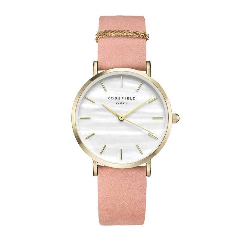 Montre Rosefield The West Village rose et or WBPG-W72