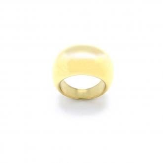 Bague Amporelle bombée en acier doré