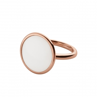 Bague Skagen doré rose Sea Glass SKJ0823791