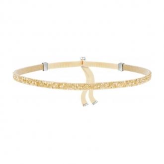 Bracelet Swarovski Necklace tissu et cristaux doré 5279166