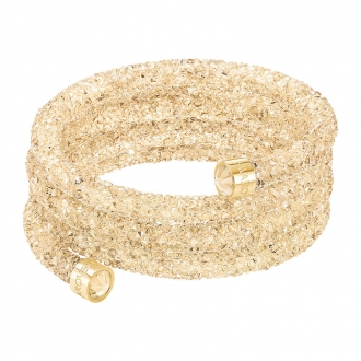 Bracelet triple jonc Swarovski Bangle doré 5292446