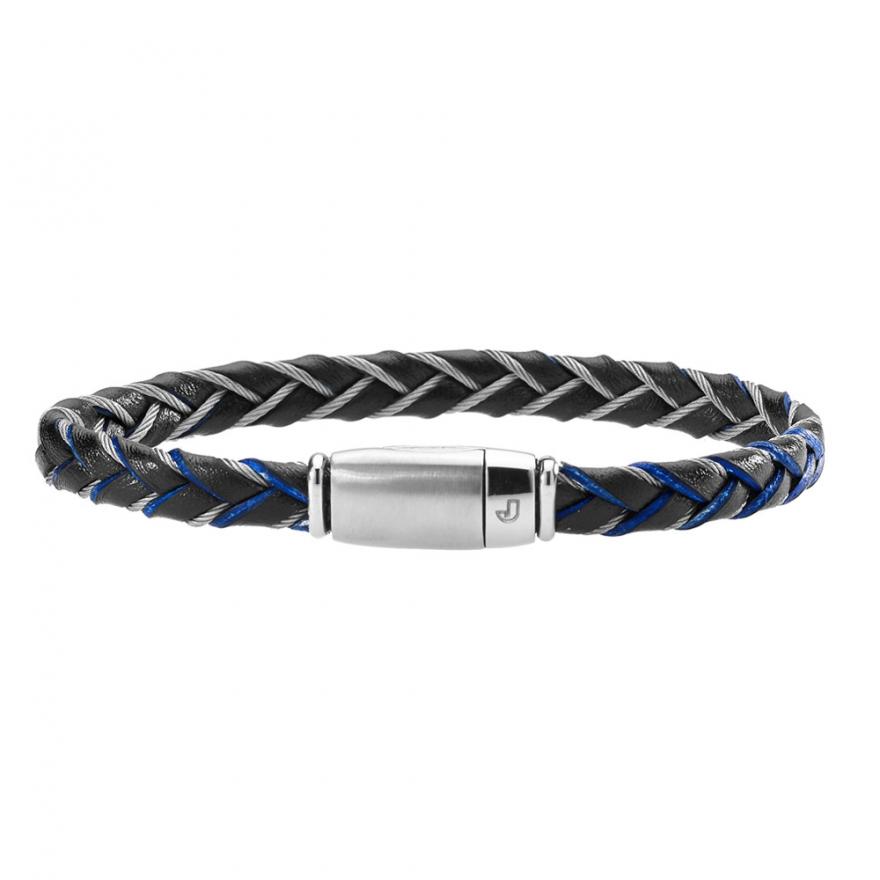 bracelet jourdan bijoux fz 126 beh homme bleu pour homme. Black Bedroom Furniture Sets. Home Design Ideas