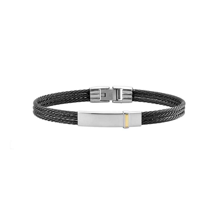 Bracelet cable acier homme - les patients du doc e7b37f1c7822
