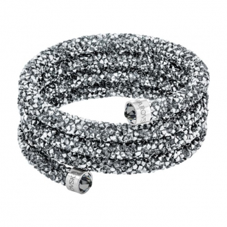 Bracelet triple jonc Swarovski Bangle gris 5292443