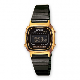 Montre Casio Collection acier noir LA670WEGB-1BEF