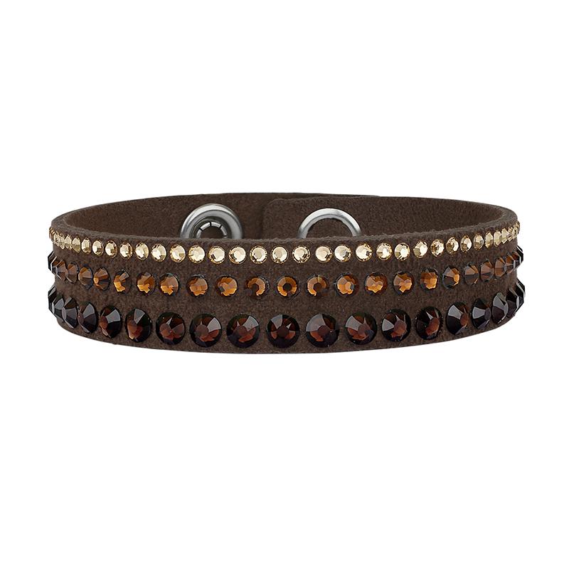 Bracelet ADORE simple tissu et cristaux Swarovski