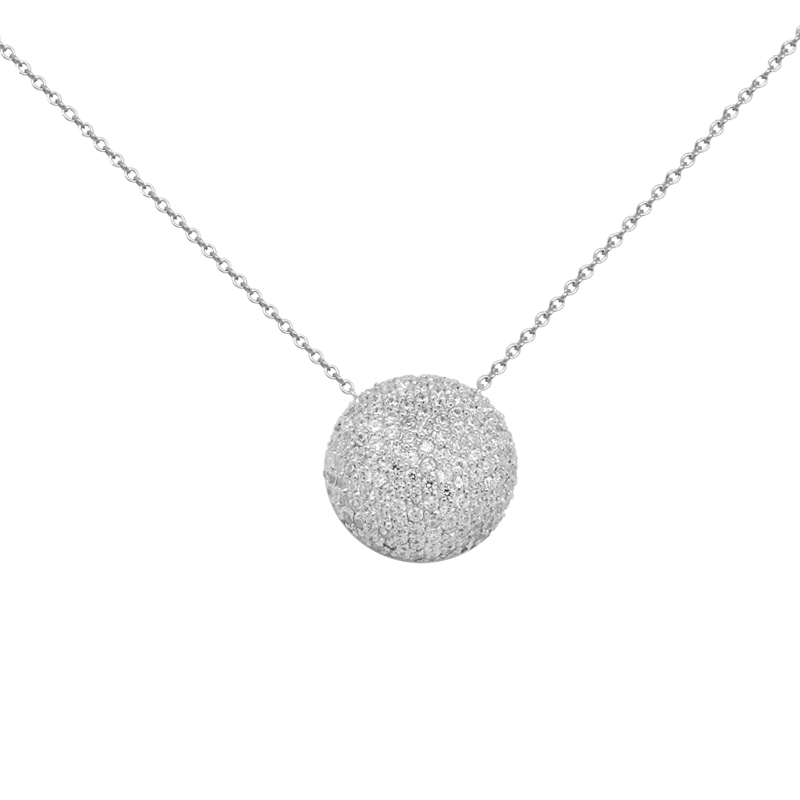 design de qualité d01c3 c41bf Collier argent 925/000 Carador femme pendentif oxydes de zirconium ronds