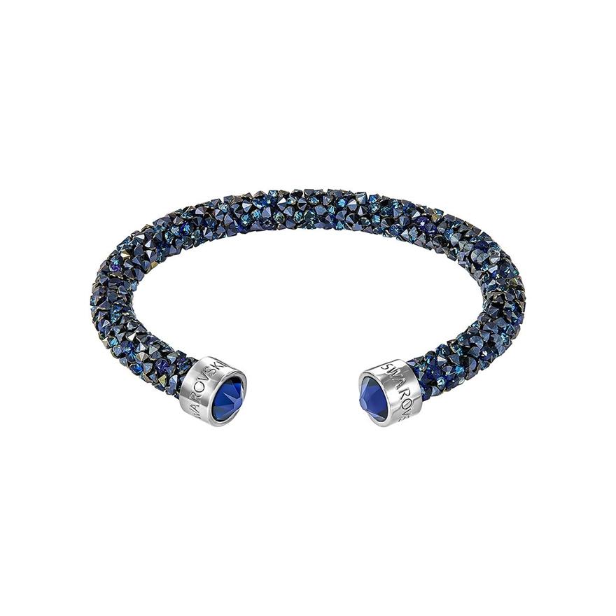 bracelet jonc ouvert swarovski crystaldust bleu 5255911 pour femme. Black Bedroom Furniture Sets. Home Design Ideas