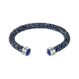 Bracelet jonc ouvert Swarovski Crystaldust bleu 5255911