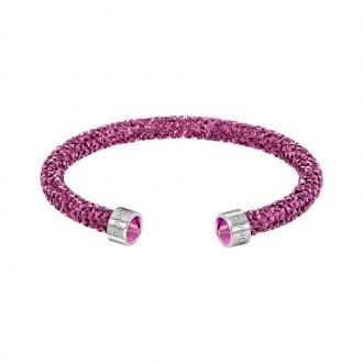 Bracelet jonc ouvert Swarovski Crystaldust Fuchia 5292439