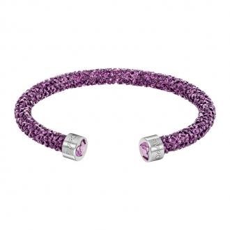 Bracelet jonc ouvert Swarovski Crystaldust Heart violet 5278499