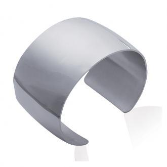 Bracelet manchette Carador fantaisie en acier argenté