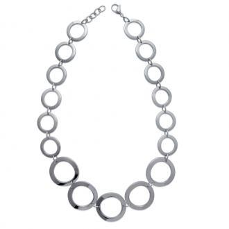 Bracelet Carador cercles acier argenté
