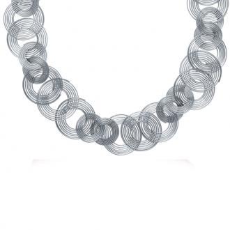 Collier Carador spirales acier argenté