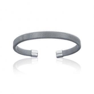 Bracelet jonc Carador fantaisie acier argenté