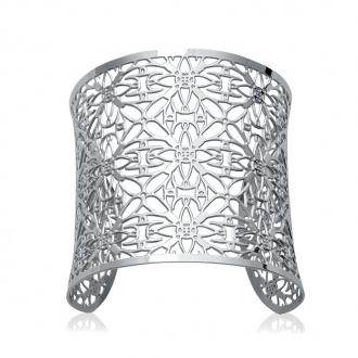 Bracelet manchette Carador dentelle inspiration marocaine acier argenté