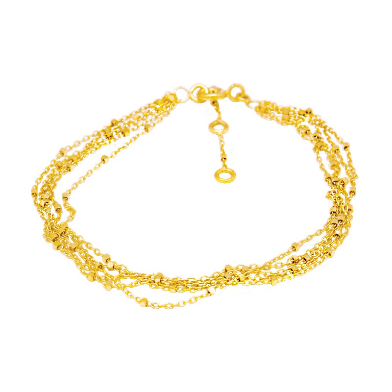 Bracelet femme multi rangs or jaune 375/000