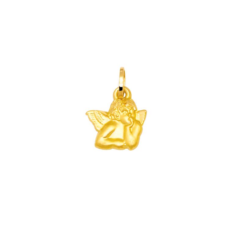 Pendentif Carador or jaune 375/000 en forme d'ange