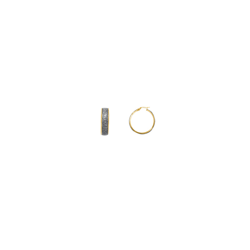 Boucles d'oreilles créoles Carador Glitter or jaune 375/000, 13 mm