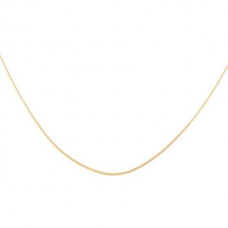 Chaine Carador maille forçat diamantée 0,09 mm en or jaune 375/000, longueur 50 cm