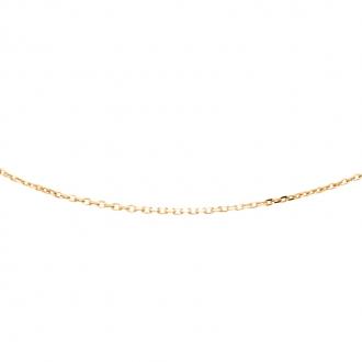 Chaine Carador en or jaune 375/000 maille forçat diamantée longueur 50 cm