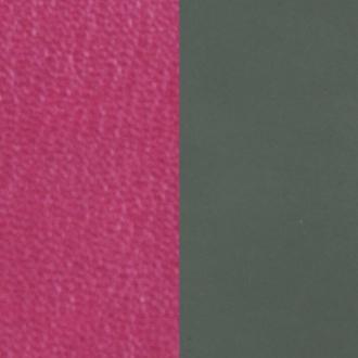 Cuir pour bague 12 mm Les Georgettes Fuchsia/Kaki