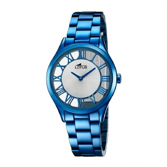 Montre Femme Lotus acier bleu 18397/1