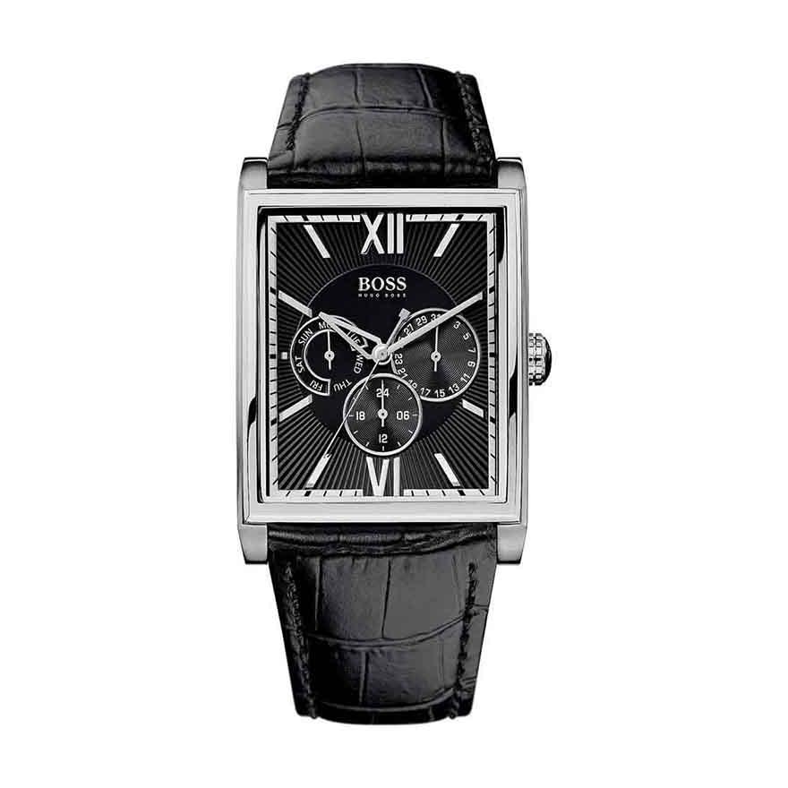 b62b18a734b Montre Homme Hugo Boss cuir noir 1512401 pour HOMME