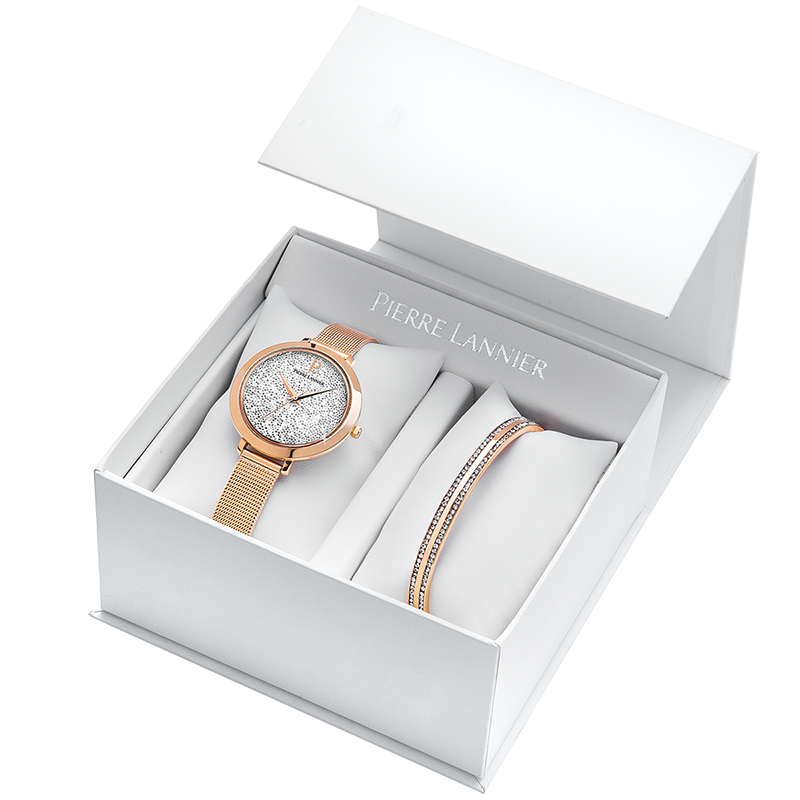 coffret montre et bracelet femme pierre lannier 390a908 pour femme. Black Bedroom Furniture Sets. Home Design Ideas