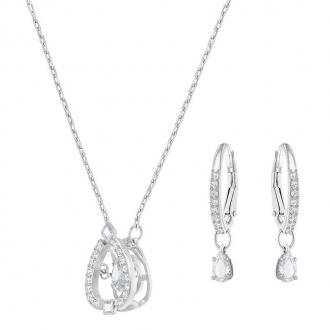 Parure collier et boucles d'oreilles Swarovski Sparkling Dance Pear 5272368