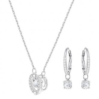 Parure collier et boucles d'oreilles Swarovski Sparkling Dance Round 5279018