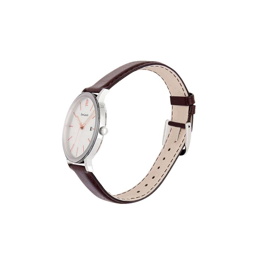 montre pierre lannier homme bracelet cuir marron 252c124. Black Bedroom Furniture Sets. Home Design Ideas