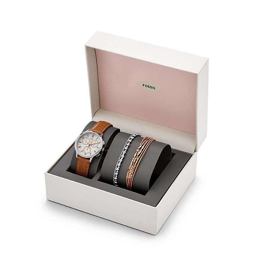 coffret montre et bracelets femme fossil ch4001set pour femme. Black Bedroom Furniture Sets. Home Design Ideas