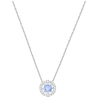 Collier Swarovski Sparking Necklace Dance Round bleu 52879425