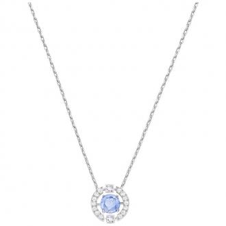 Collier Swarovski Sparking Necklace Dance Round bleu 52879425