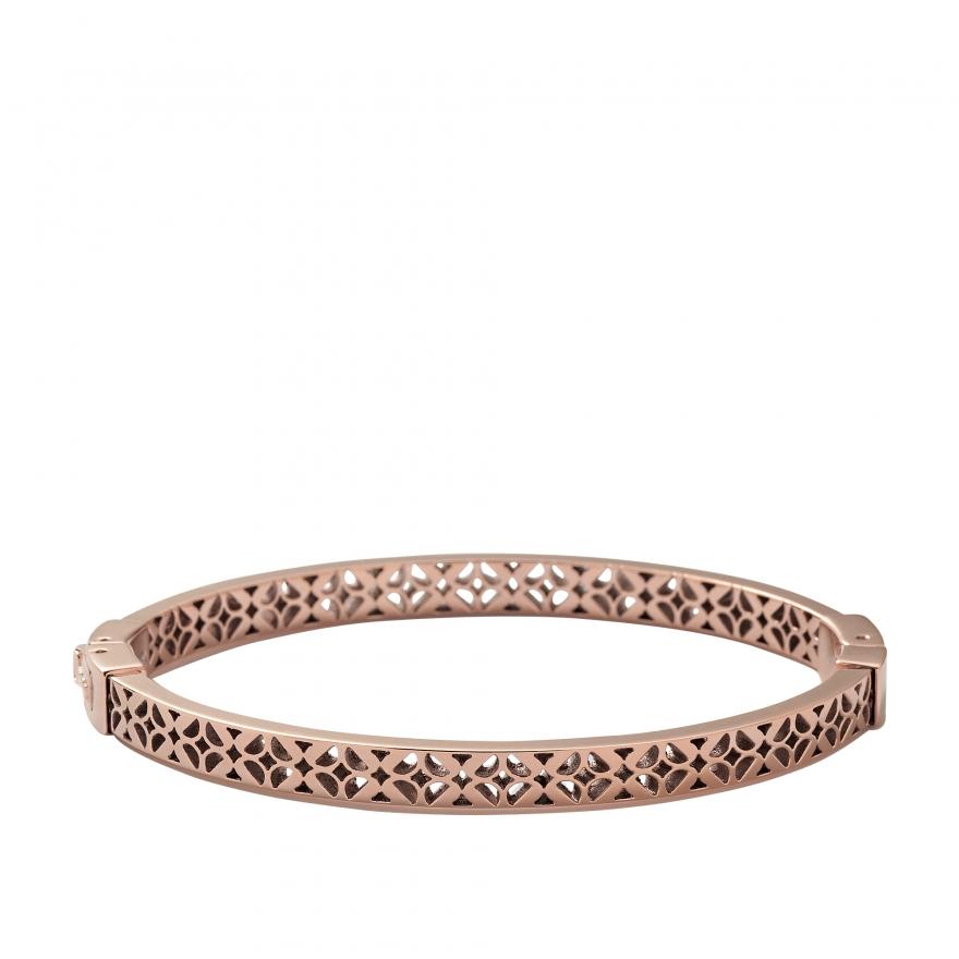 bracelet fossil en acier vintage iconic dor rose jf00099791 m pour femme. Black Bedroom Furniture Sets. Home Design Ideas