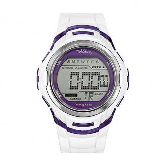 Montre Digitale Tekday blanche