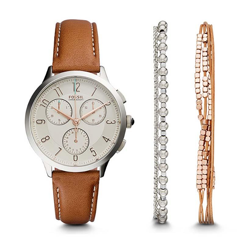 coffret montre et bracelets femme fossil ch4001set pour femme. Black Bedroom Furniture Sets. Home Design Ideas