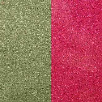 Cuir pour manchette Medium Les Georgettes Aloe/Glitter fuchsia 702755199B0000