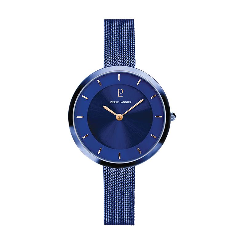 Montre Femme Pierre Lannier Elégance Style acier bleu 076G668