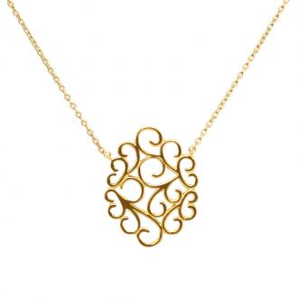 Collier femme Carador motif arabesque plaqué or