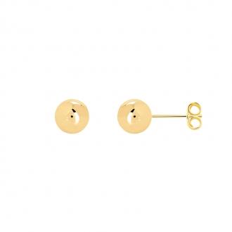 Boucles d'oreilles Carador boule 8 mm en plaqué or