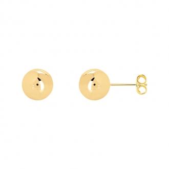 Boucles d'oreilles Carador boule 10 mm en plaqué or