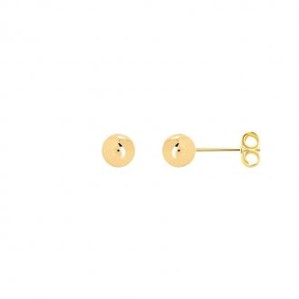 Boucles d'oreilles Carador boule 6 mm en plaqué or