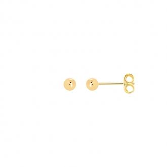 Boucles d'oreilles Carador boule 4 mm en plaqué or
